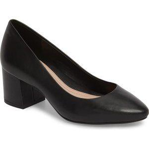 Taryn Rose Rochelle Leather Block Heel Pumps Sz 10